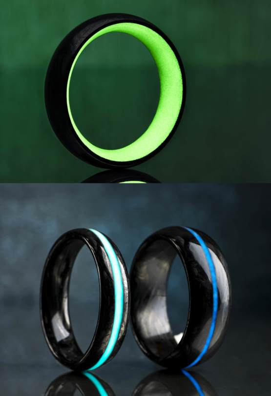 how it 39 s made forged carbon fiber glow rings trending on imgur. Black Bedroom Furniture Sets. Home Design Ideas