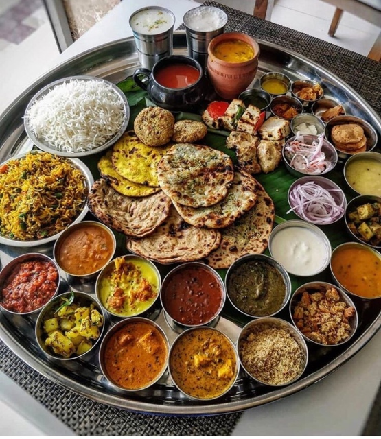 A thali meal in India (5 USD)