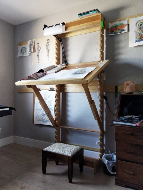 Enjoyable Diy Art Desk With Adjustable Height And Angle Trending On Download Free Architecture Designs Embacsunscenecom