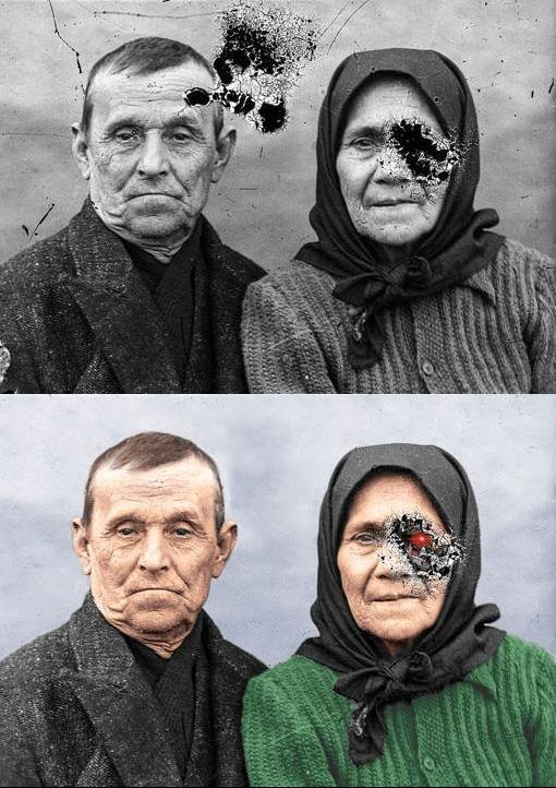 My friend has been practicing restoring and colorizing old photos.