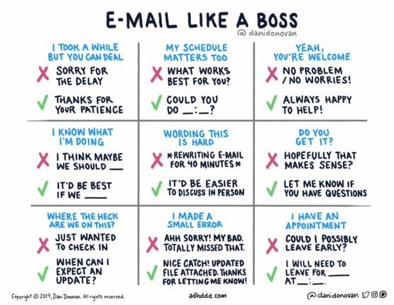 Helpful email tips