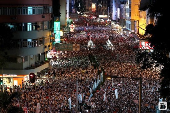 Over 1 million people from Hong Kong protesting Chinese extradition