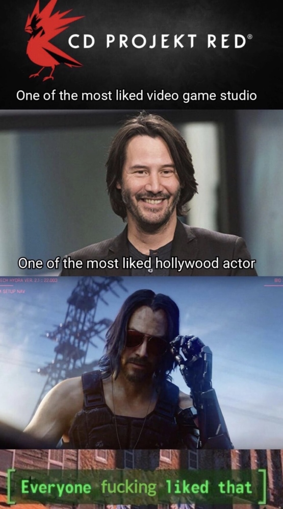 Keanu Reeves in Cyberpunk 77