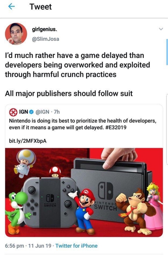 Good on ya Nintendo
