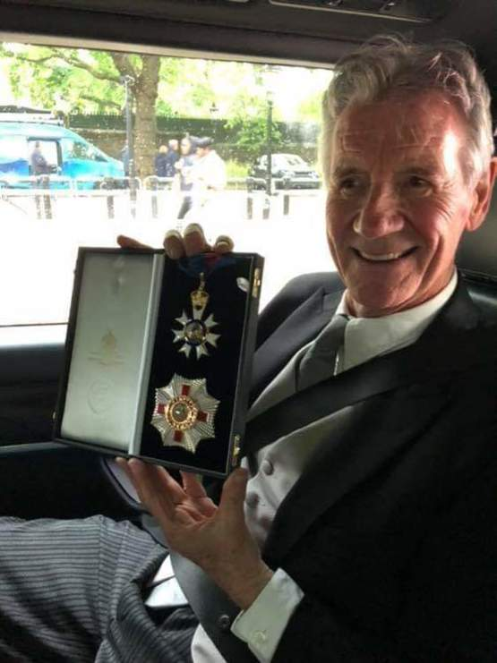 Sir Michael Palin finally received his knighthood from Prince William