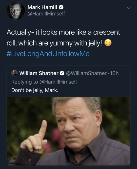 Hamill and Shatner trade remarks over Mars picture