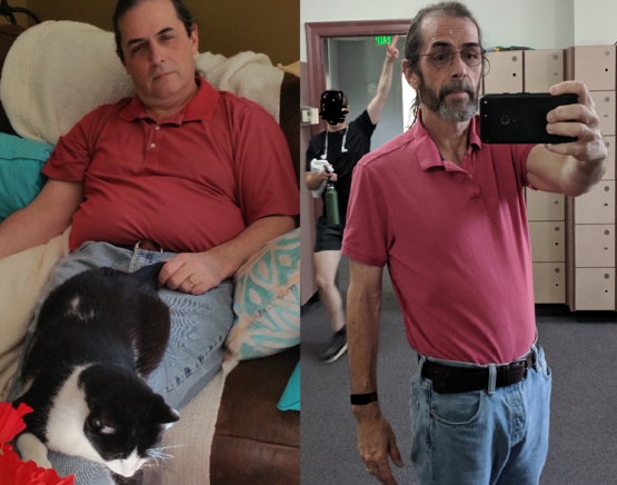 80 pounds lost in a year. Quit smoking, too. All of this at 53 years old. But most important