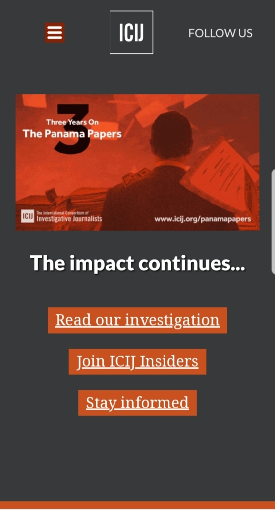 What happened after the Panama papers was leaked you asked.