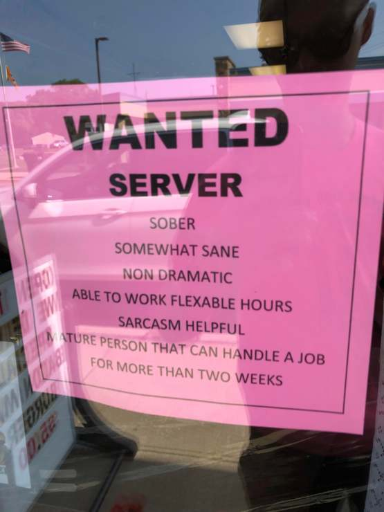 Local Job Posting Looking for Server