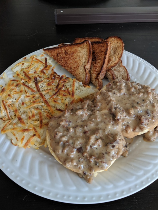 Any love for biscuits and gravy  Recipe included