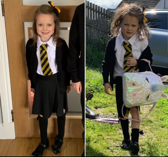Before & After 1st day at school