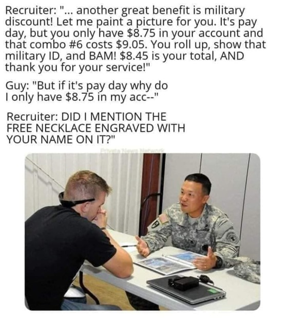 I had to pay to get my GI Bill also. Some people don't realize that...