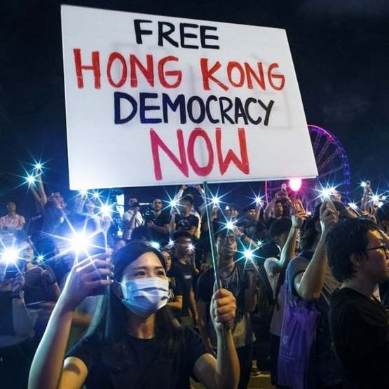 Free Hong Kong, Democracy Now!