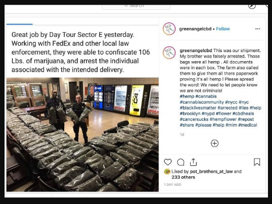 NY Police congratulate themselves on their 106 pound marijuana bust