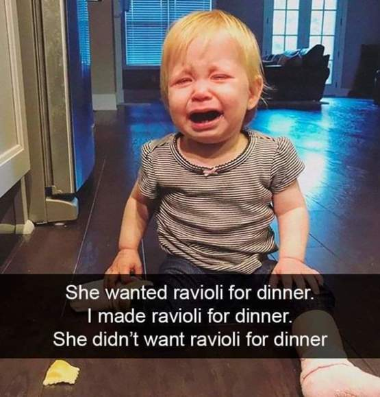 Parents share reasons why their child is crying
