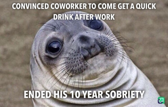 He told me after finishing his beer...