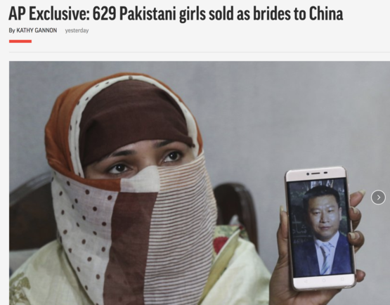 629 girls from across Pakistan were sold as brides to Chinese men and taken to China.