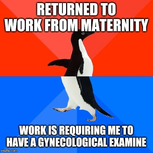 Work is requiring a gynecological examine to keep my job.