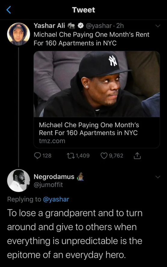 Michael Che is a good dude. - good news, wholesome