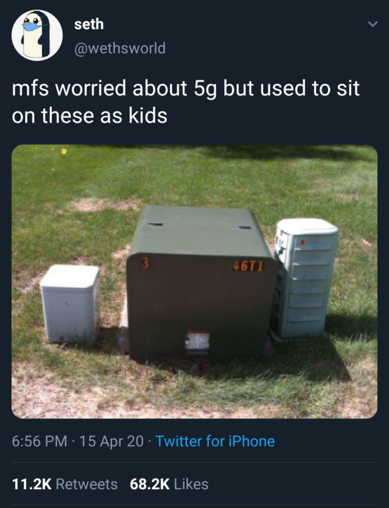 people worried about 5g used to sit on these