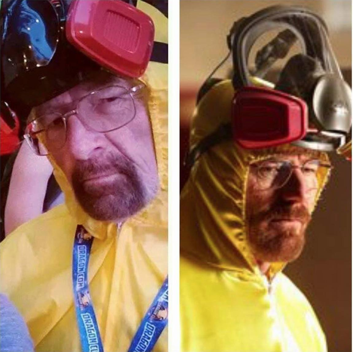 My dad as Walter White looked pretty spot on. Trending on