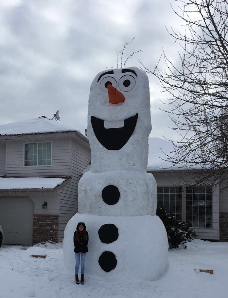 My family's attempt at Olaf.