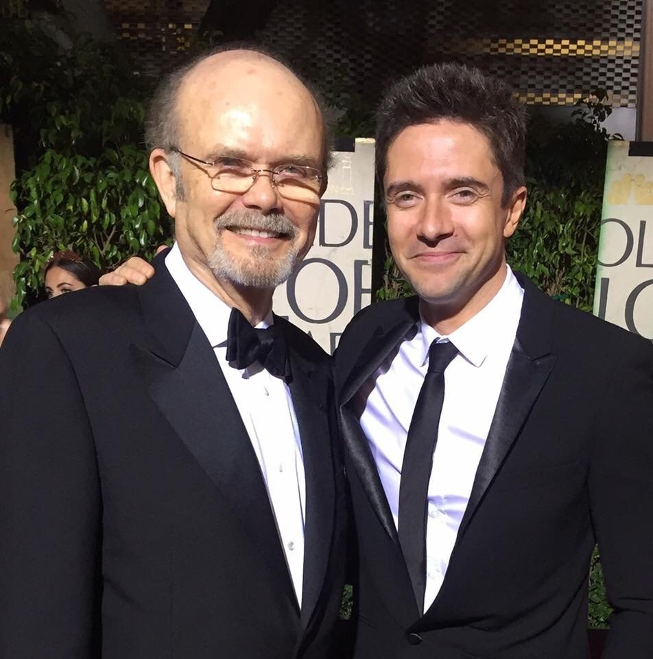 Eric and Red Forman at the golden globes