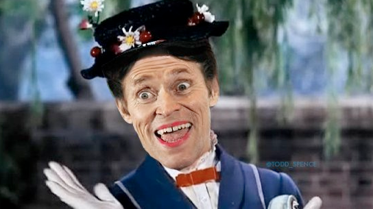I photoshopped Willem Dafoe as Mary Poppins and this was the result