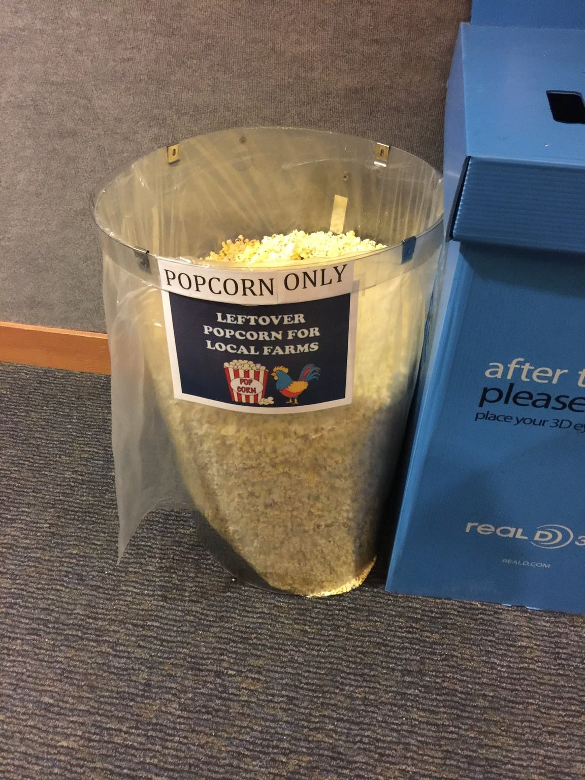 You know you live in a rural area when your local movie theatre does this