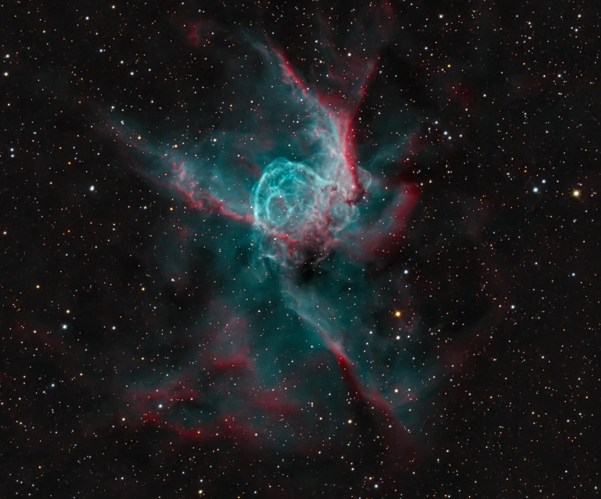 Thor's Helmet - A 30 light year wide bubble of oxygen