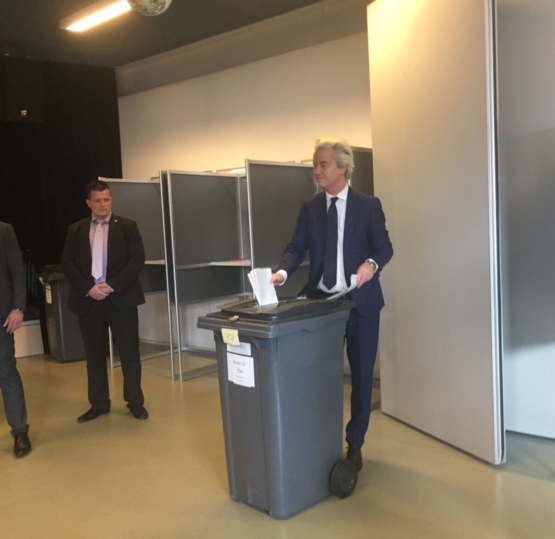 TIL in the Netherlands you throw your vote into a trashcan.