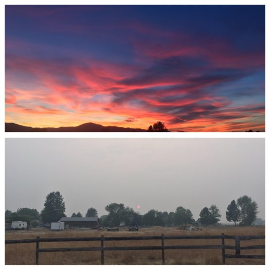 d99c7fa7a Finally after almost 2 months of a smoke filled valley from forest fires,  Missoula, Montana has clear skies and a sunset that we are familiar with.