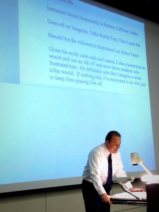 professor reads his reviews during the course - Trending ...