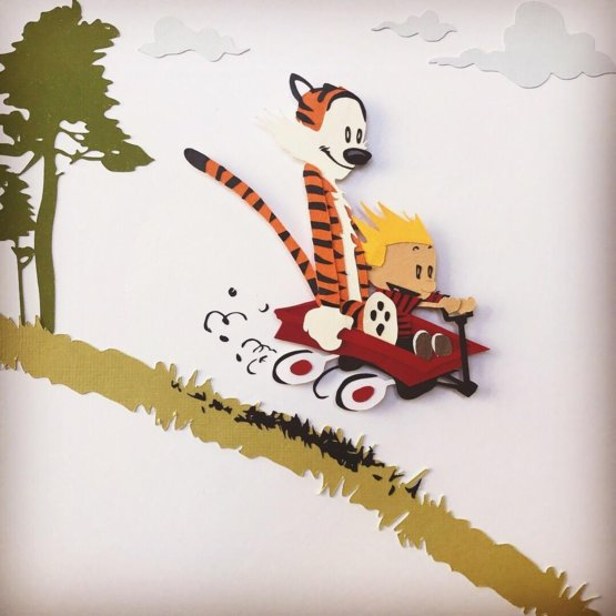 calvin and hobbes essays His iconic cartoon calvin and hobbes has entertained generations of  he  accompanied a high school essay on the buildings of downtown.