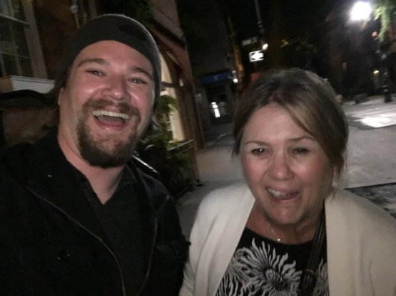 Mommy came to visit. I got her drunk. I haven't seen her laugh or smile like this in years. (Bell's Palsy) She is so self conscious about it. But I will always think she's beautiful.