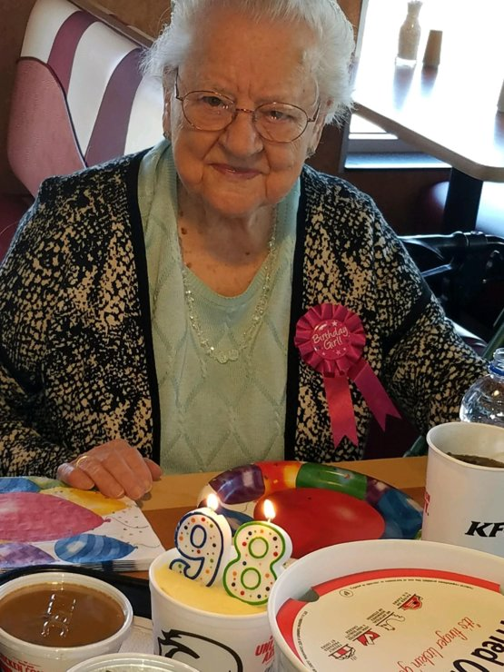 We wanted to throw grandma a party for her 98th but all she