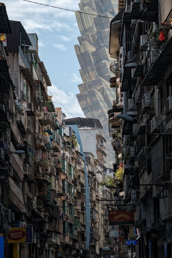 Street in Macau photographed by Paul Tsui