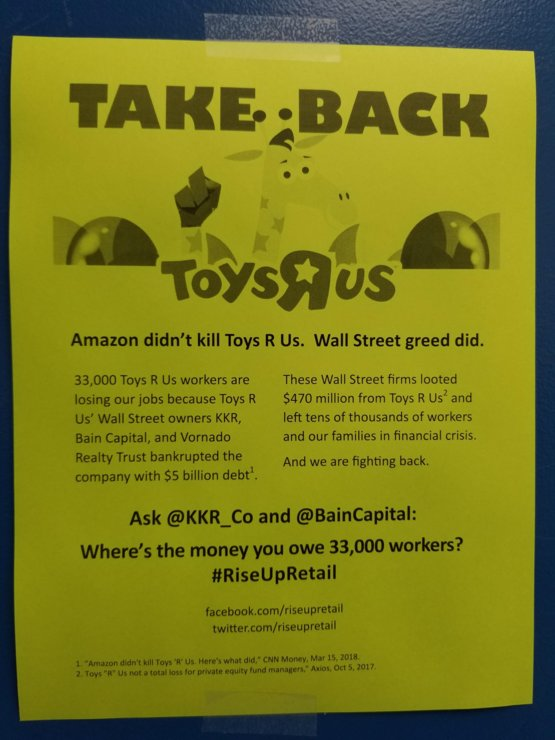 Toys R Us workers are fighting back - Trending on Reddit
