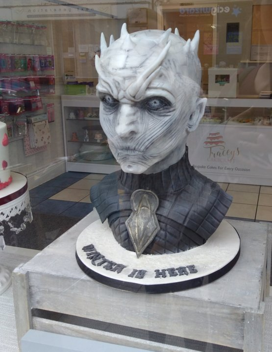 Anyone fancy a Game of Thrones White Walker cake From my local bakery.