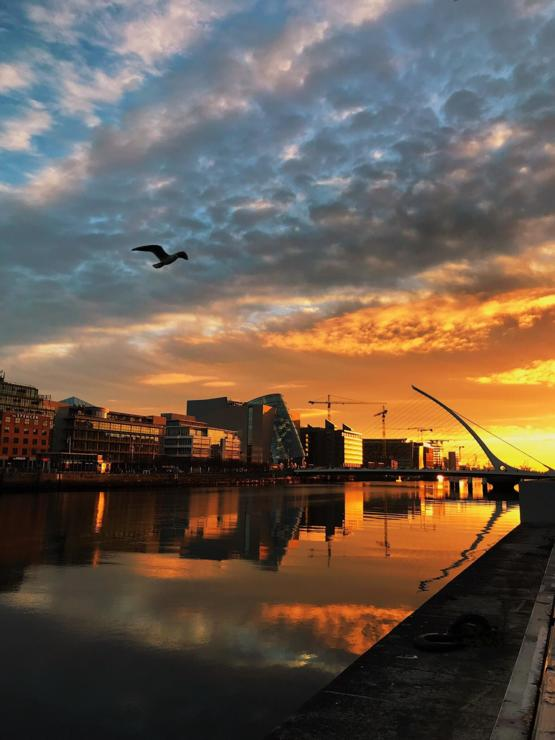October sunrise in Dublin, Ireland ????????