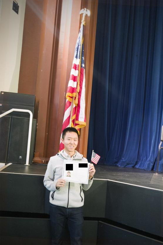 "Seven years ago I was yelled at ""go back to your country"" in high school. Today I finally became a US citizen."