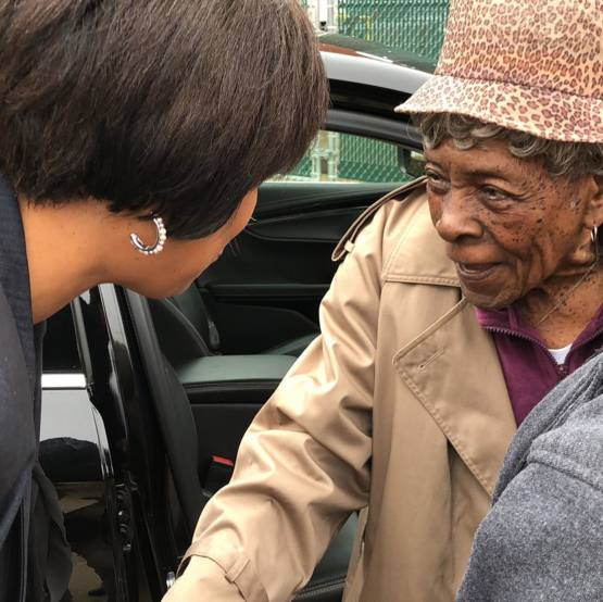 104 year old Margaret Norwood cast her ballot today for D.C.'s general election. She was born before women had the right to vote.