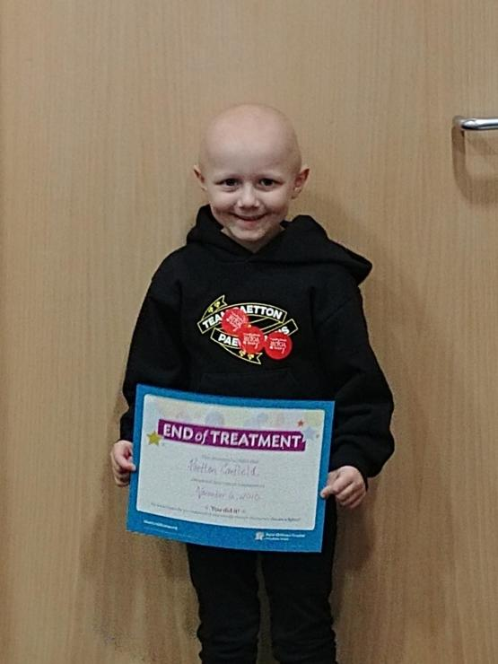 Finally finished her third round of chemo