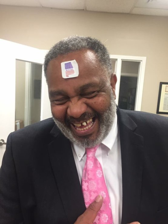 For 30 years, Mr. Hinton was stripped of all his rights while he sat on Alabama death row for a crime he didn't commit. Today, he arrived at the polls at 7am and exercised his right to vote.