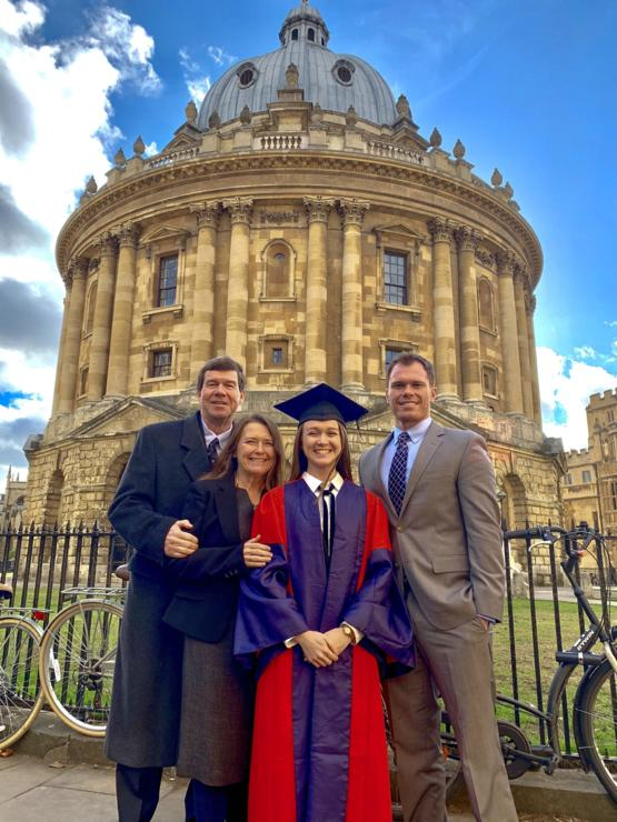 Proud of my little sister for receiving her PhD from Oxford this weekend