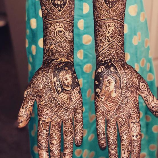 Wife's wedding Henna