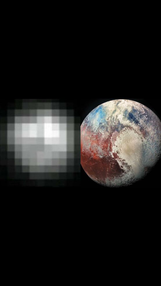 A photo of Pluto, 24 years apart. (1994-2018)