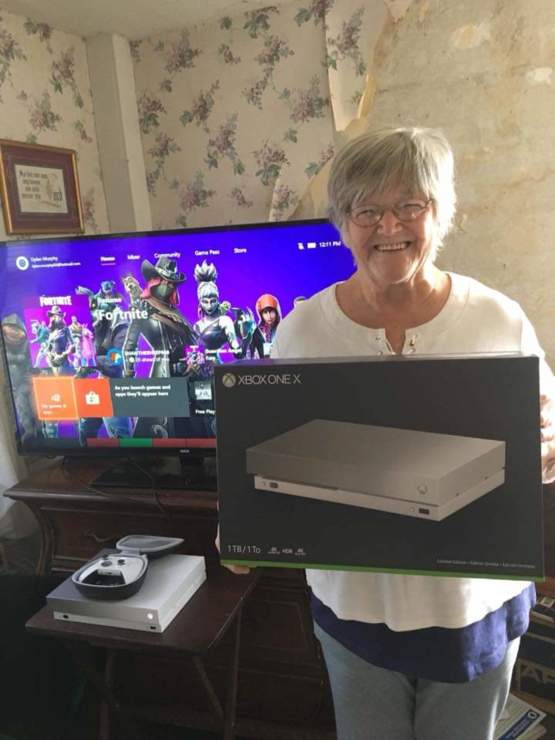 Granny won an Xbox from Taco Bell!