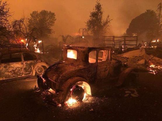 So my home town of Paradise CA burnt down today.