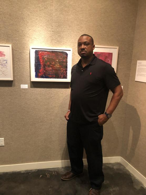 My first art gallery exhibition that shows my work.
